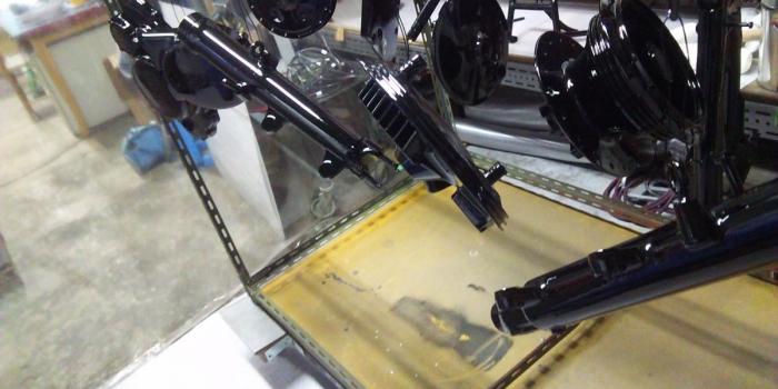 Yamaha SR400 パウダーコーティング