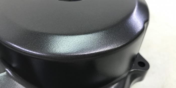 CBR クランクケースカバー ガリ傷修正 セラコート Cerakote