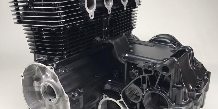 ホンダ CB400FOUR エンジン ガンコート 施工