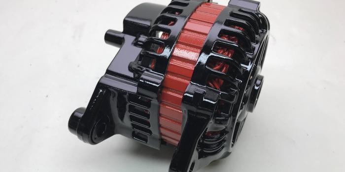 マツダ ・ RX-7(FD3S) オルタネーター パウダーコート(粉体塗装)施工